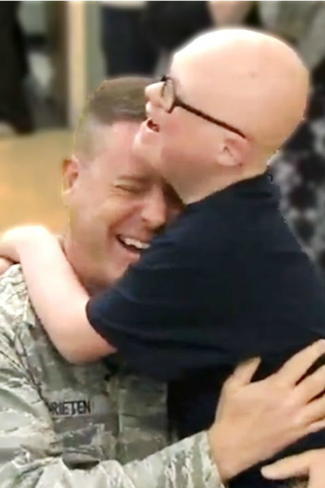Military Dad Surprises Son Who Has Down Syndrome