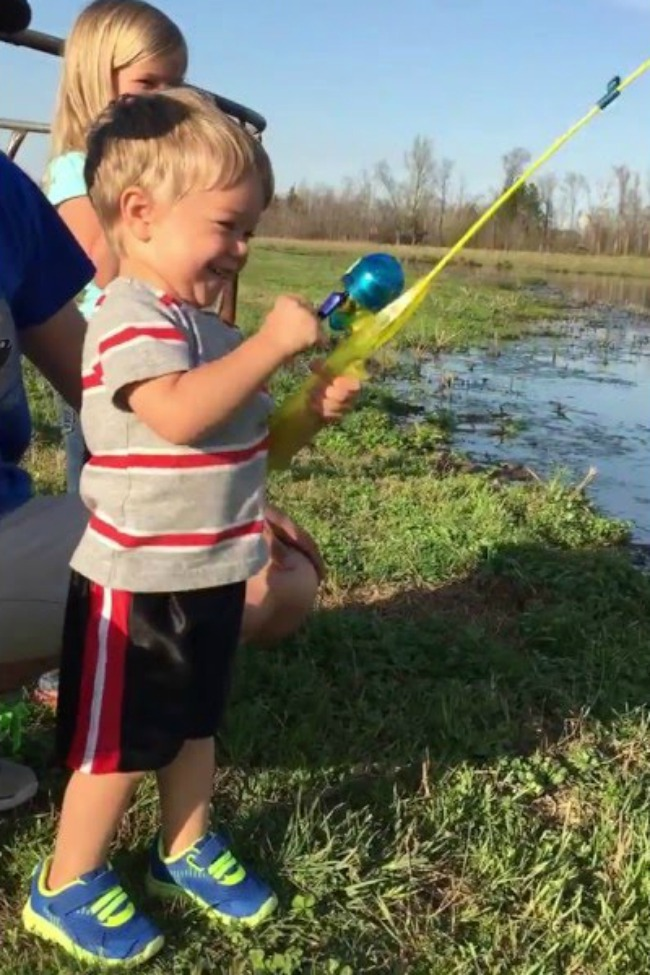 Little Boy Unexpectedly Catches Fish With Toy Rod