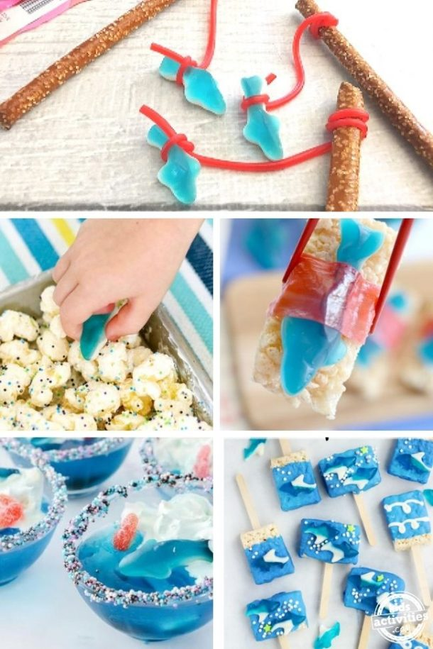 Shark snacks - shark week party food ideas