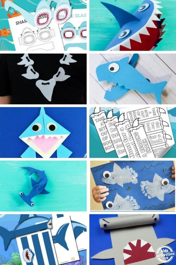 Shark week crafts for kids