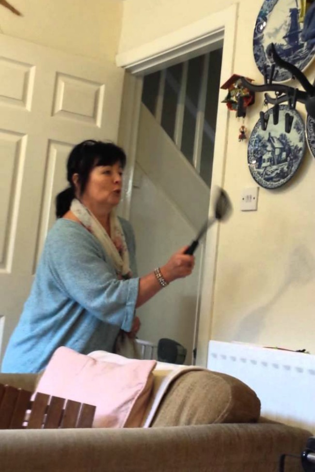 This Mom Is Trying To Kill A Spider With A Spatula…Trying…