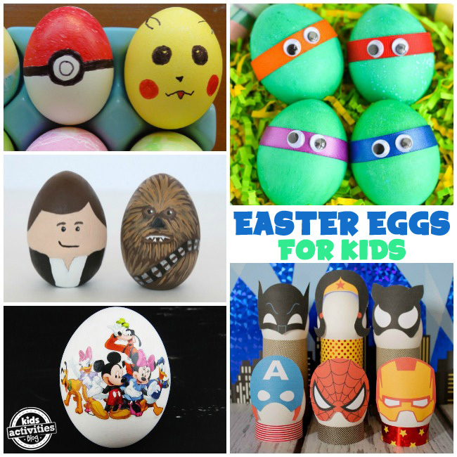35 Ways to Decorate Easter Eggs - Character Eggs For Kids