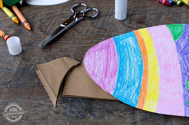 Easter Egg Bags step 4 - cut the brown lunch sack round at the top