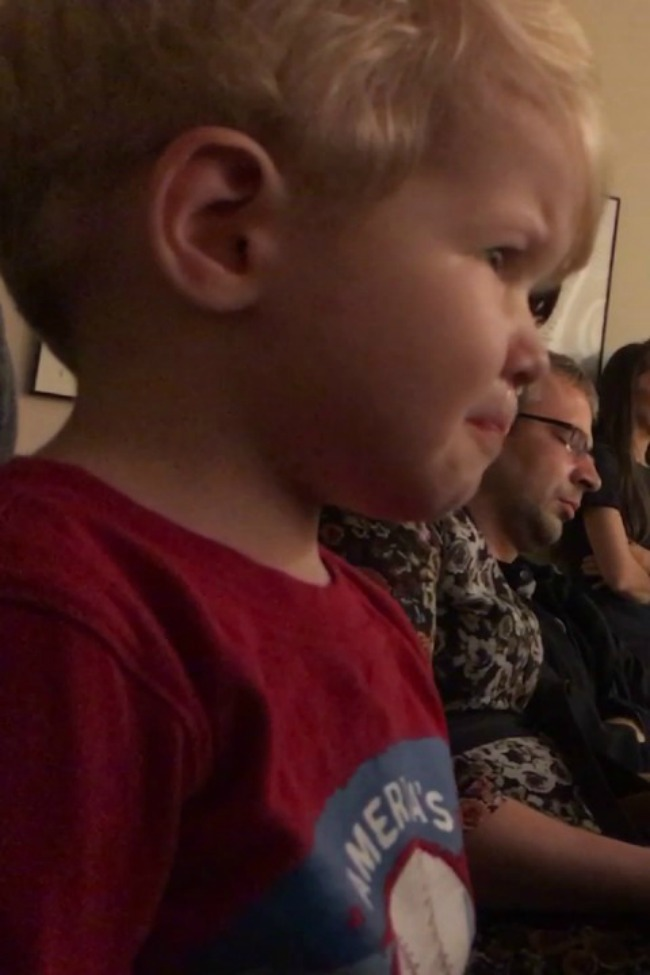 Toddler Has An Emotional Reaction To Hearing Moonlight Sonata On The Piano