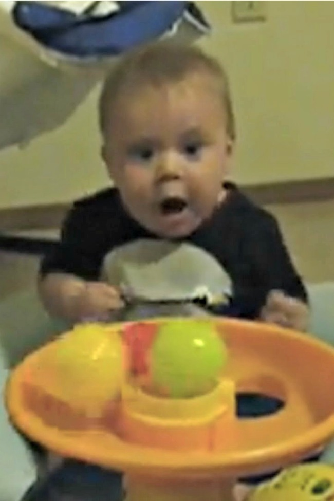 This Baby Is FREAKING OUT For The Funniest Reason