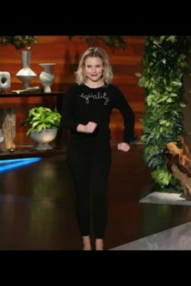 Kristen Bell Tells Ellen Her Side Of The 'Easy Chair' Fight, And About Her Celebrity Crush