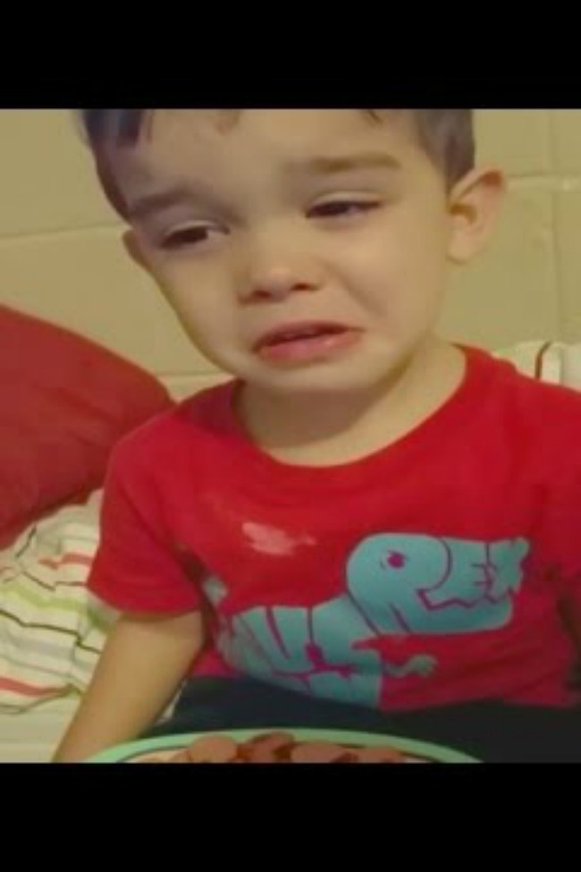 Little Boy Crying About His Dinner, But You Won't Believe Why