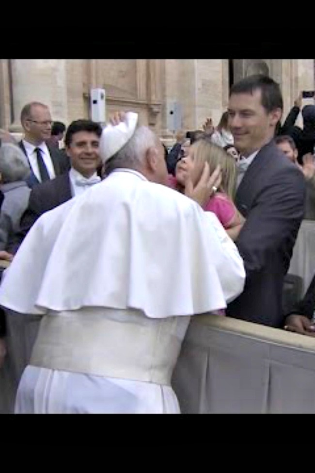 Sneaky Little Three-Year-Old Steals The Pope's Hat, And His Heart