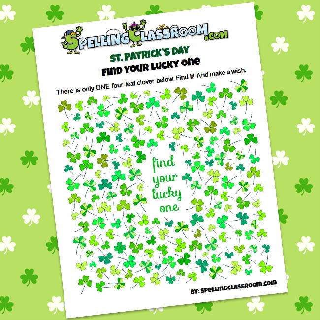 St. Patrick's Day Learning and Fun Package