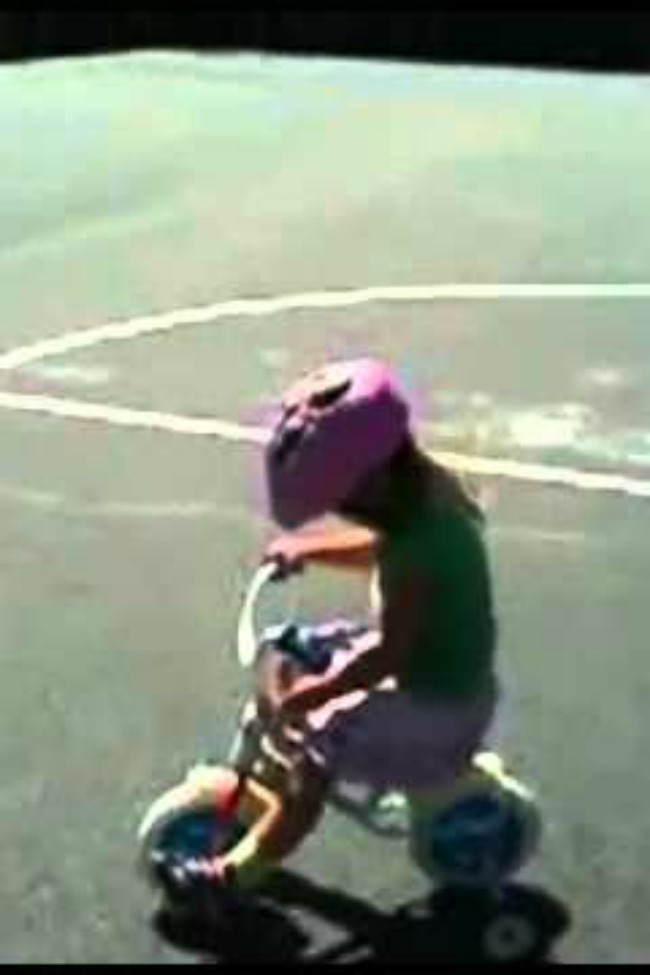 Little Girl Throws Fit When Tricycle Won't Stop Going Backwards