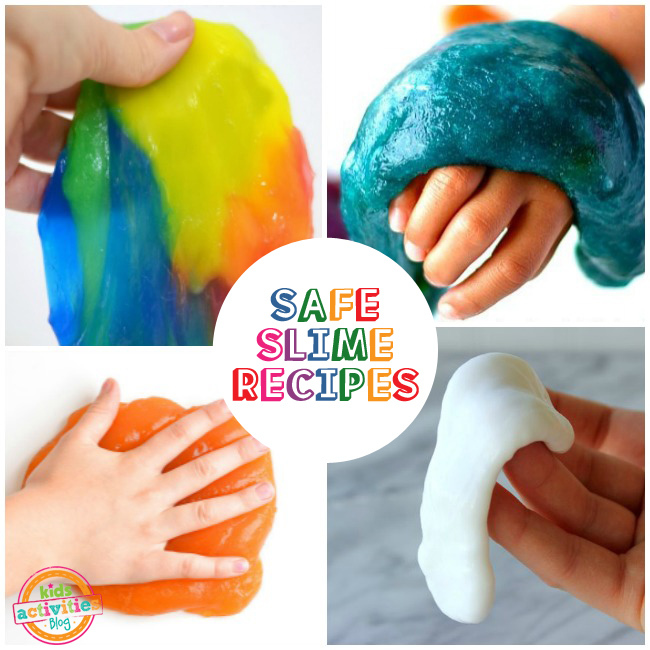 Borax-Free Slime Recipes for kids