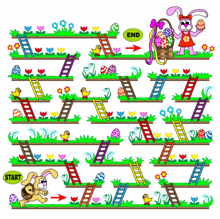 Easter Ladder Maze - Free Printable - Kids Activities Blog