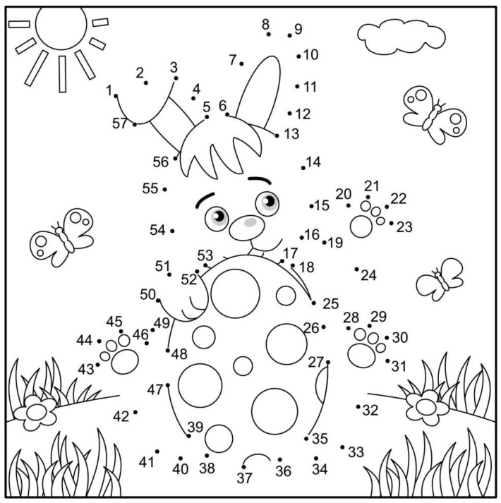 Easter bunny dot to dot worksheet - Kids Activities Blog
