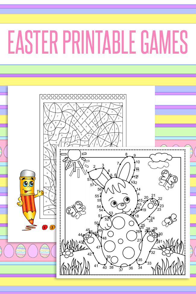 Over 30 Pages of Free Easter Printable Games & Worksheets for Kids