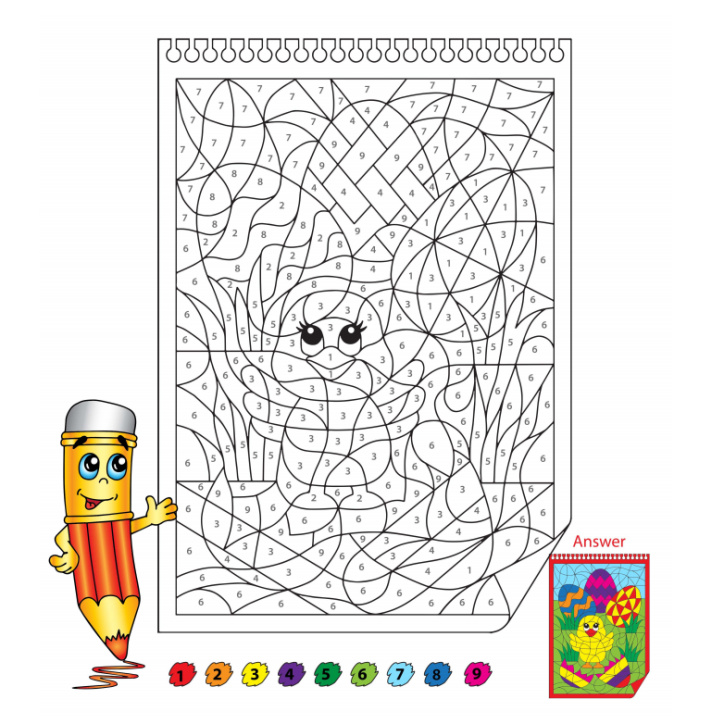 Free Printable Easter Color by Number Worksheet - Kids Activities Blog