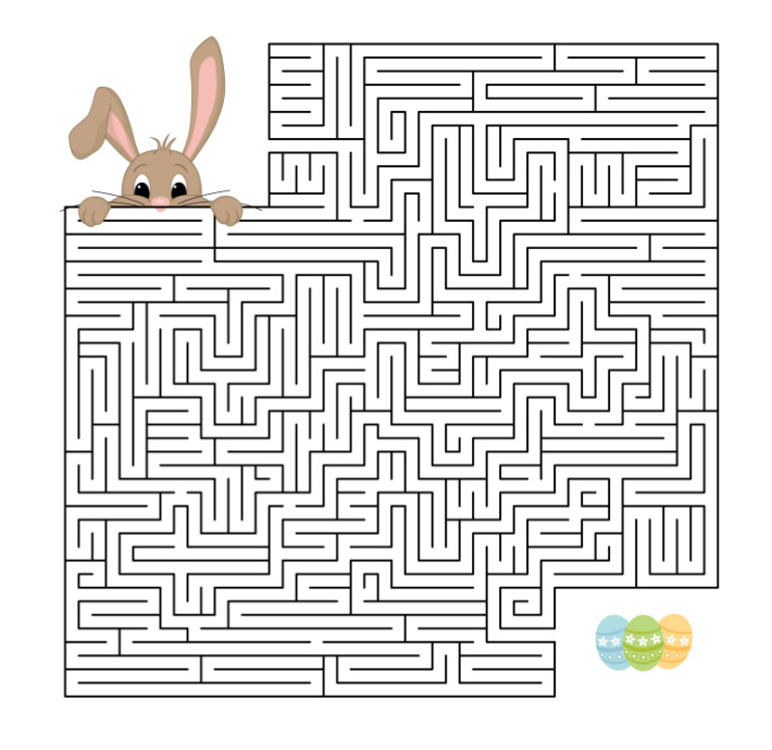Free printable Easter maze for kids - Kids Activities Blog