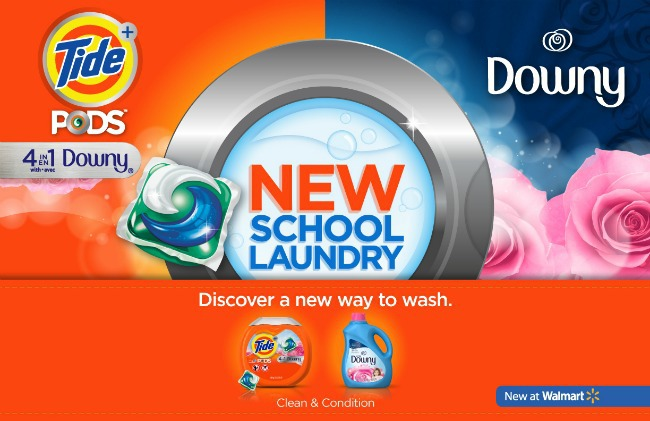 New School Laundry Tide Pods with Downy