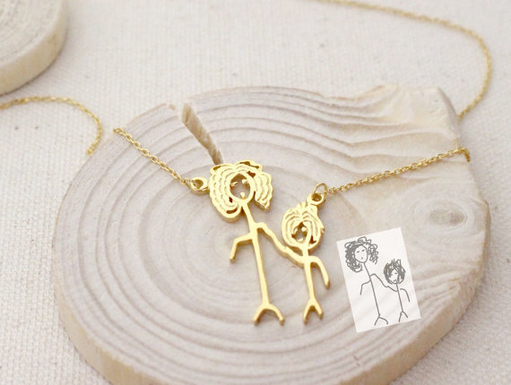 Kid Drawing Necklace