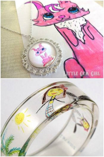 Turn Your Kids Artwork Into Jewelry
