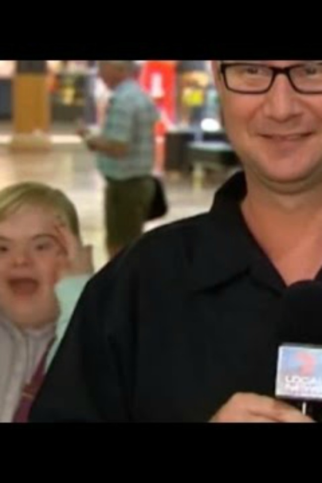 Girl With Down Syndrome Video Bombed Live News Report