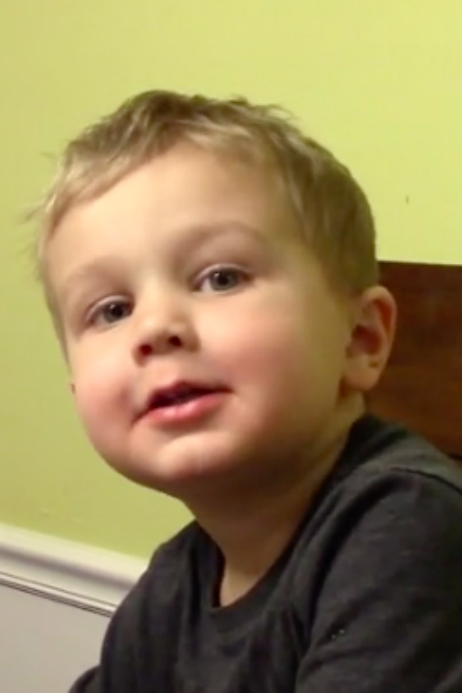 Adorable Little Boy Wants To Be Excused, Keeps Forgetting One Little Word