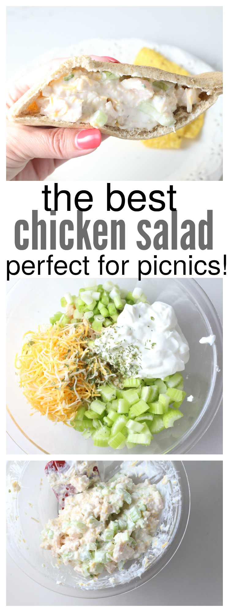 The Best chicken salad recipe - perfect for picnics!