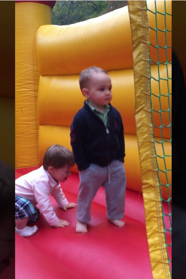 I Will Never Be As Cool As This Kid Casually Bouncing In A Bouncy House
