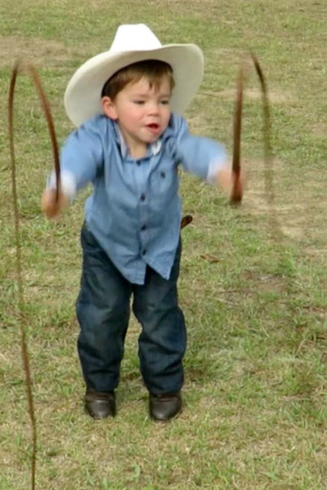 Mini Indiana Jones Is A Crack Shot With The Whip!