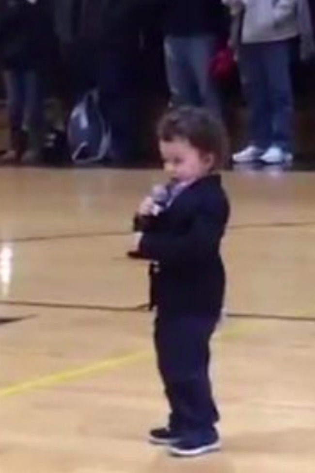 NFL Player's Toddler Son Belts Out National Anthem In Front Of Crowd