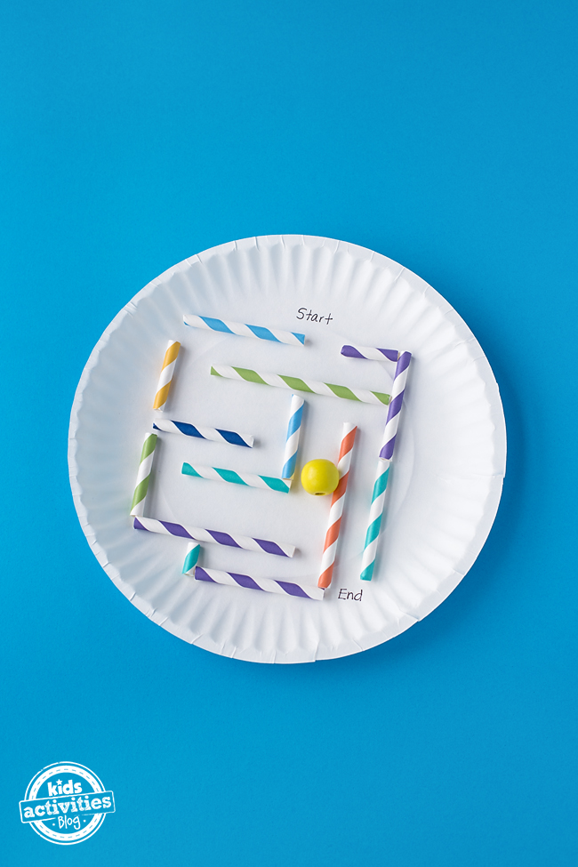 How to Make a Simple Paper Plate Marble Maze