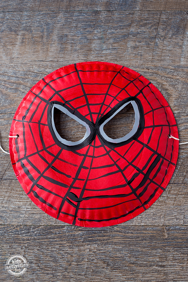 Easy to Make Paper Plate Spider-Man Mask