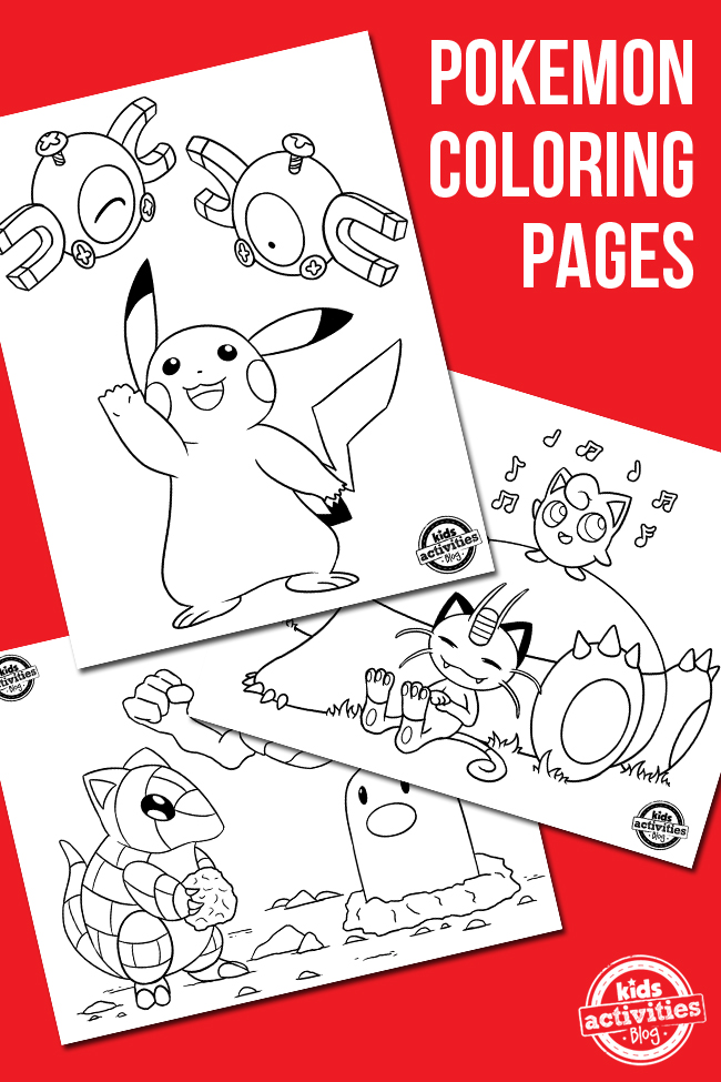 Free Pokemon Coloring Pages with Video Drawing & Coloring Tutorial