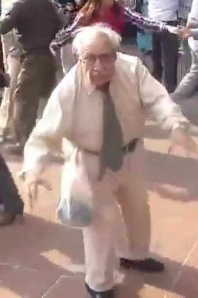 Funny Old Man Has The Time Of His Life Dancing In A Crowd [Video]