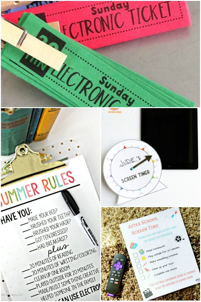 Monitor Your Kids Screen Time with These Printables