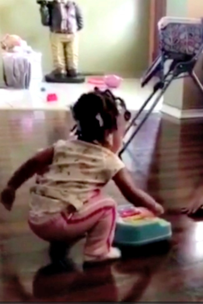 Little Girl Gets Mad At Brother For Ignoring Her