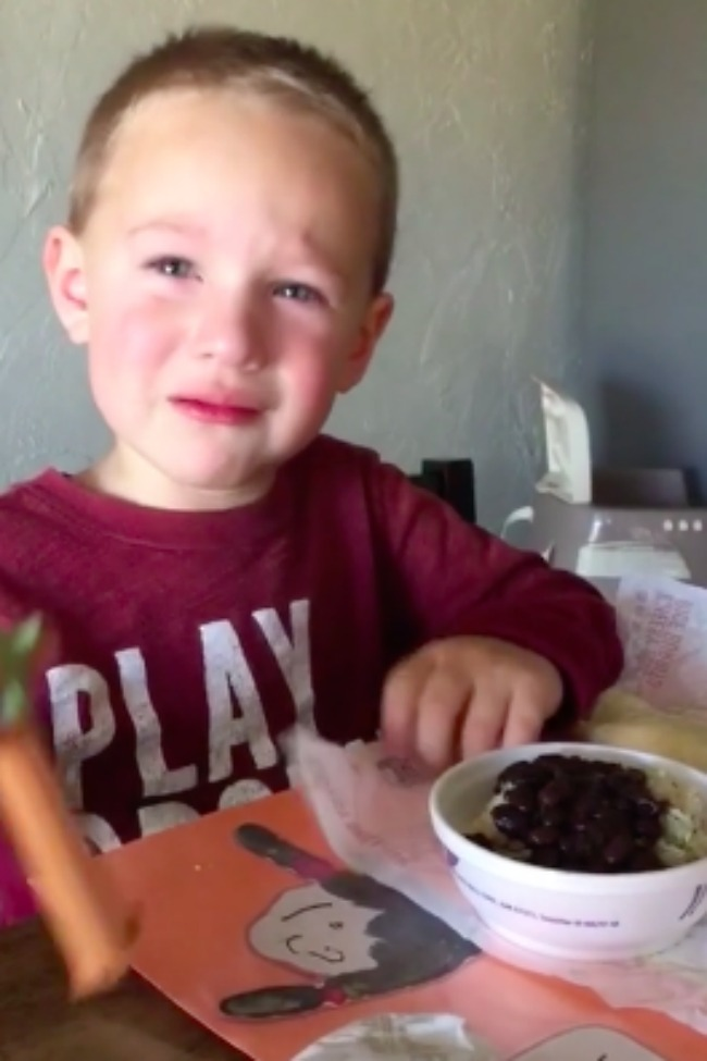 Little Boy Is Devastated His Meal Didn't Come With A Spork