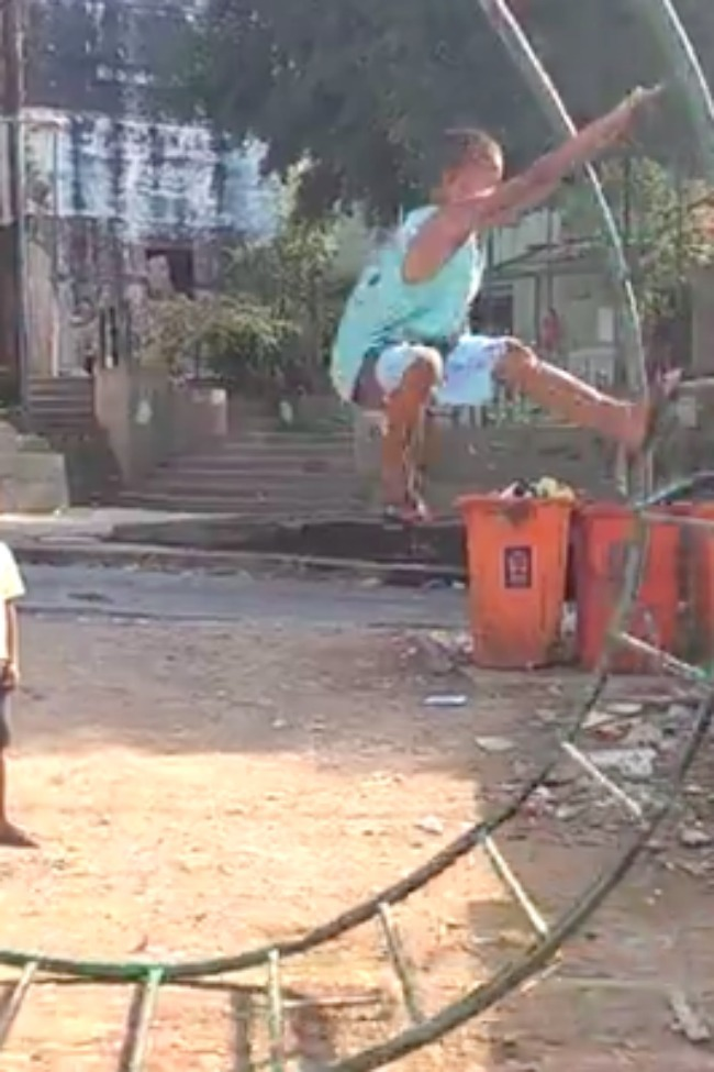 Inventive Kids Turn Old Playground Equipment Into The World's Most Dangerous Teeter-Totter