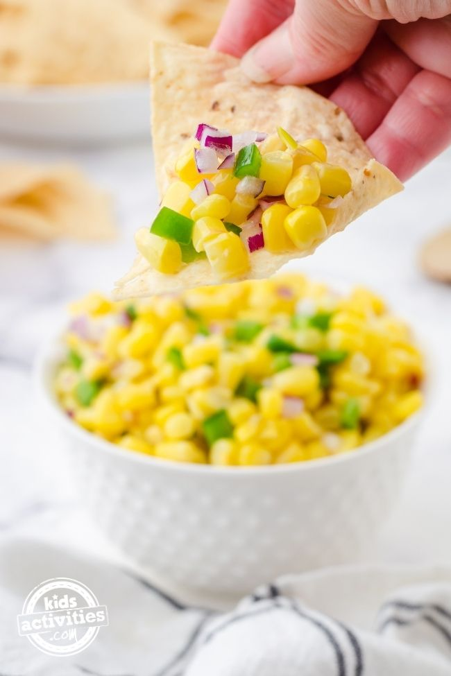 Easy Corn Salsa Made with Frozen Corn