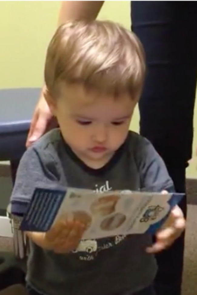 Vocal Baby Has A Lot To Say At Doctor's Visit