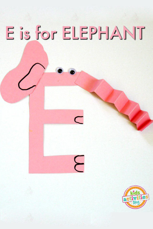 Letter E Craft — E is for Elephant