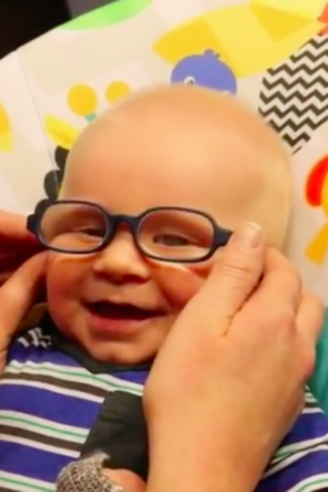 3-Month-Old Giggles As He Sees Mom Clearly For The First Time!