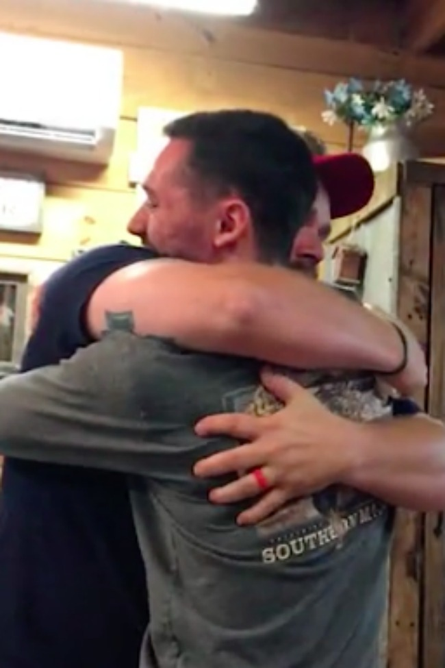 Burly Man Reduced To Tears After His Stepson Gives Him A Special Gift