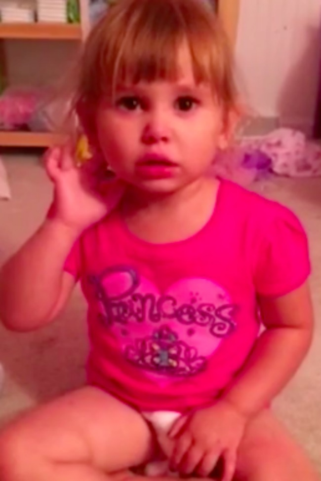 Little Girl Tries To Blame Barbie For Her Make-Up Accident, But Dad Isn't Buying It