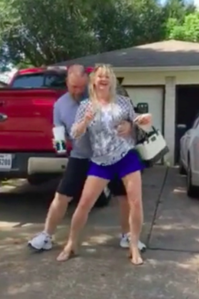 Daughter Tries To Embarrass Mom By Filming Her Dancing, Only To Have Dad Join In, Too