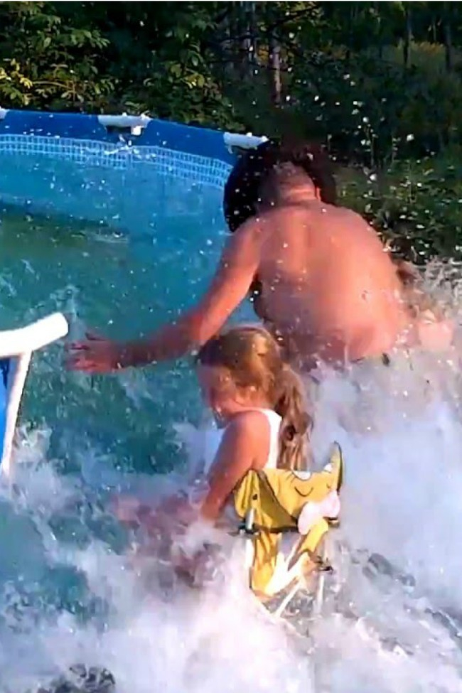 Apparently Pool Popping Is A Thing, And People Get Really Into It!