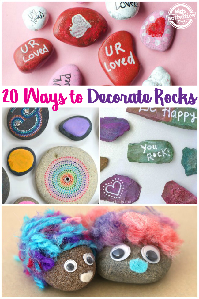 20 Rock Decorating Ideas - how to decorate rocks with paint