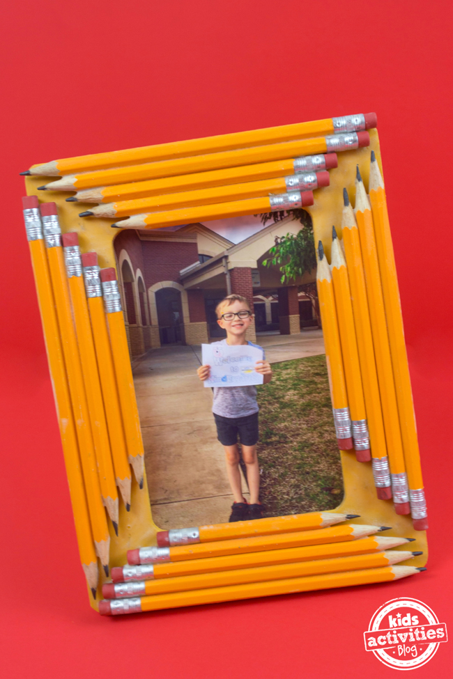 Fun Back-to-School #2 Pencil Picture Frame Craft