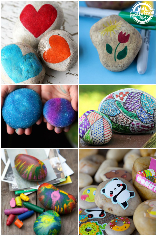 30+ Crazy Fun Rock Painting Ideas for Kids