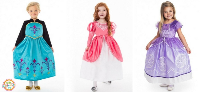 Halloween Costumes for Girls - Ice Queen Coronation Costume, Mermaid Princess Ball Gown, Amulet Princess Gown