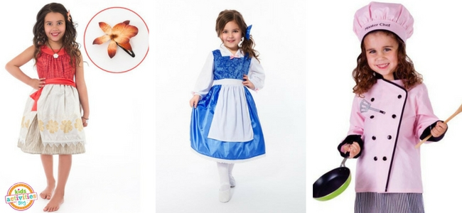 Halloween Costumes for Girls - Polynesian Princess, Beauty Day Dress, and Master Chef Costumes